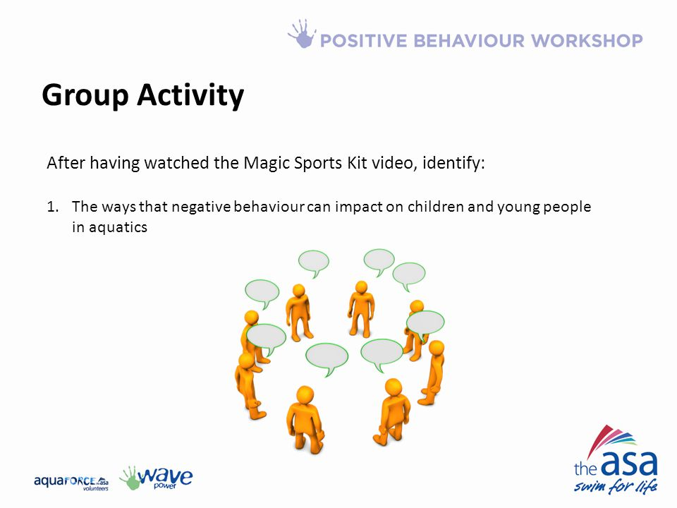 Group Activity After having watched the Magic Sports Kit video, identify: