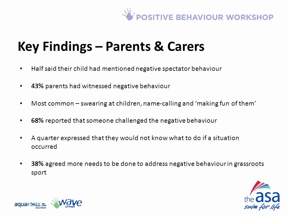 Key Findings – Parents & Carers