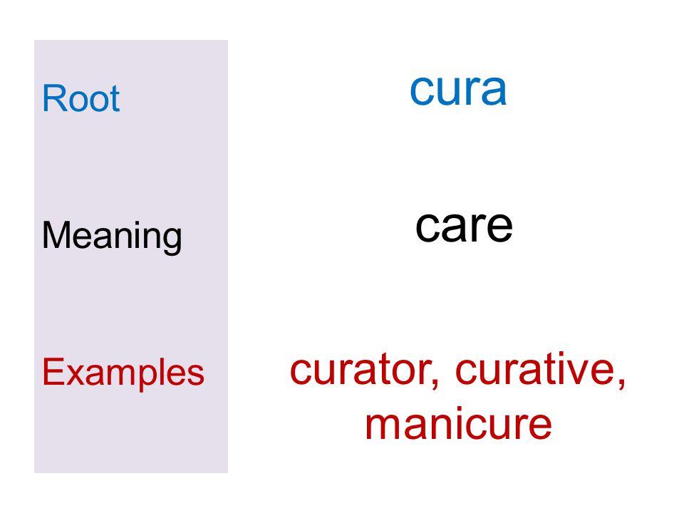 curator, curative, manicure