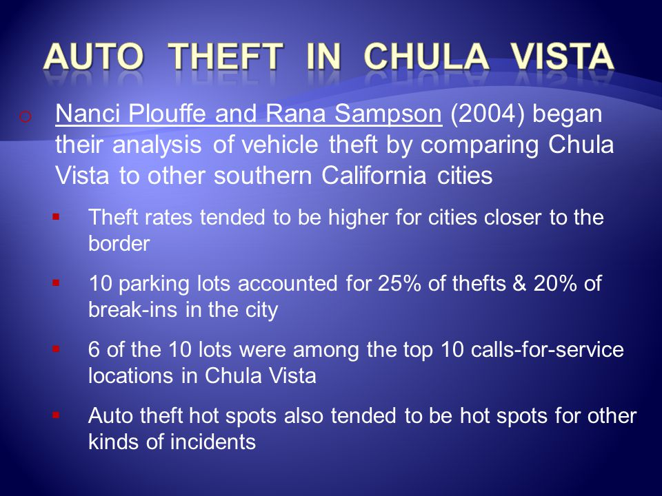 Auto theft in chula vista
