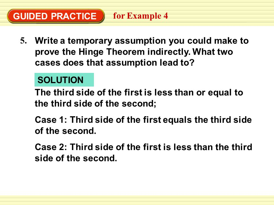 GUIDED PRACTICE for Example 4. 5.