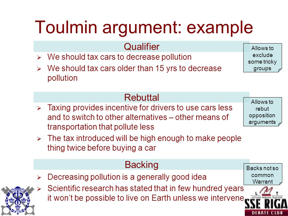 Toulmin argument: example