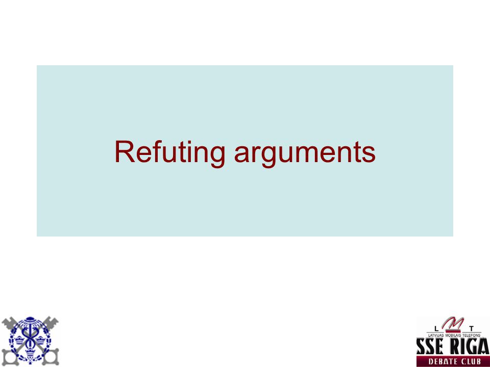 Refuting arguments