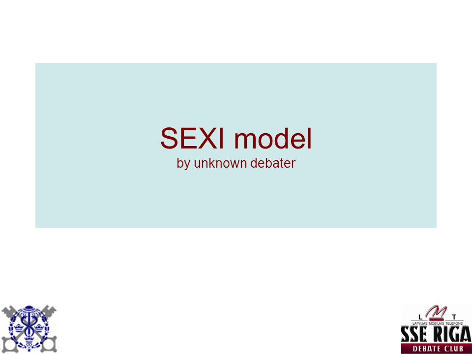 SEXI model by unknown debater