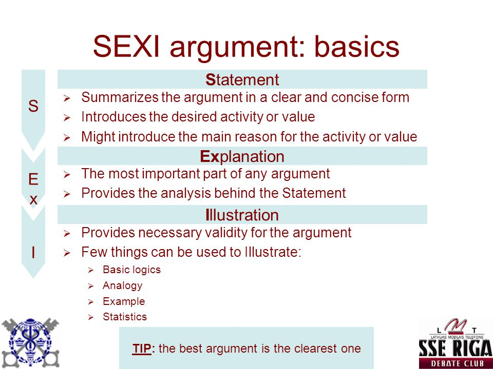 TIP: the best argument is the clearest one