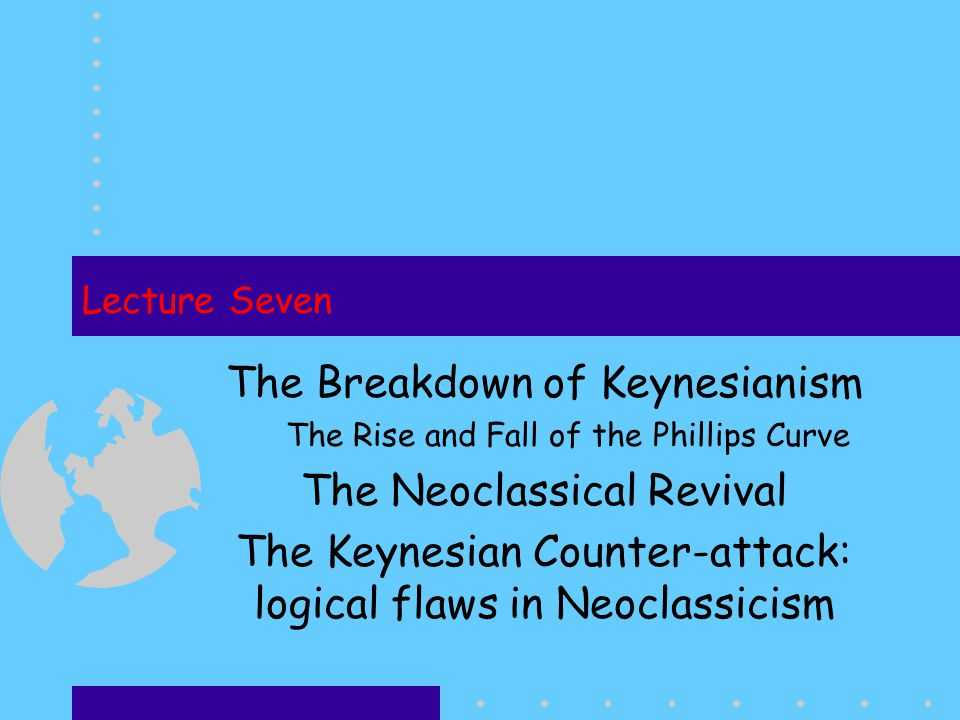The Breakdown of Keynesianism The Neoclassical Revival