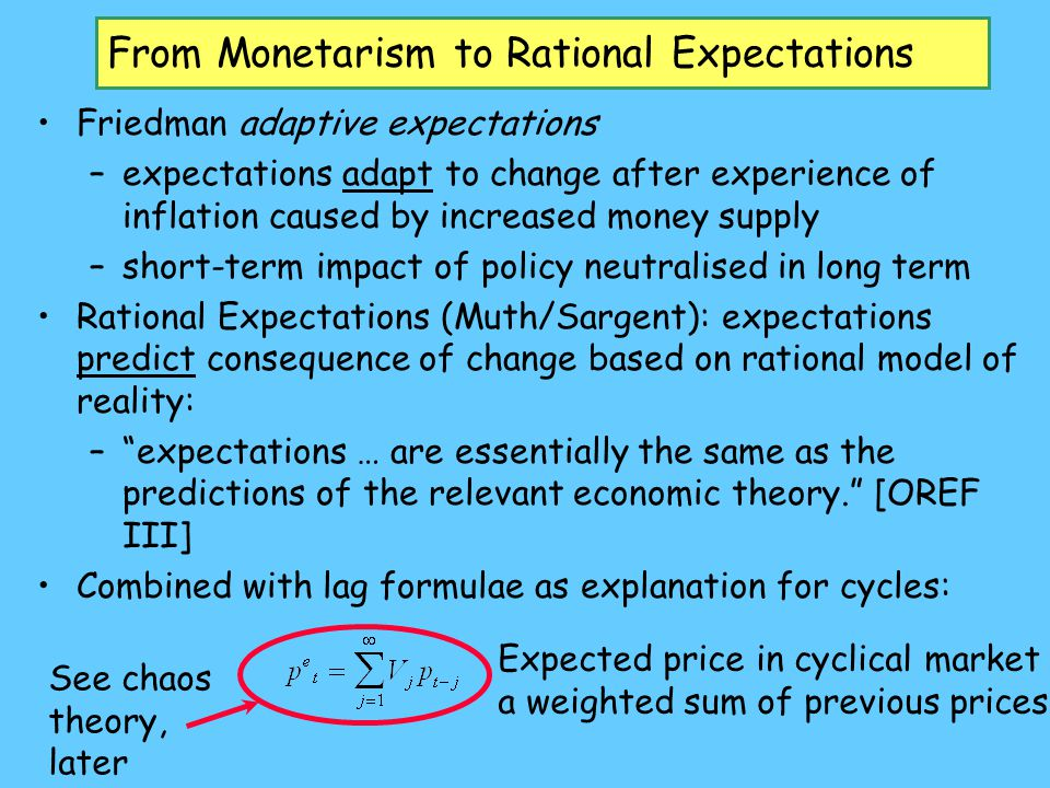 From Monetarism to Rational Expectations