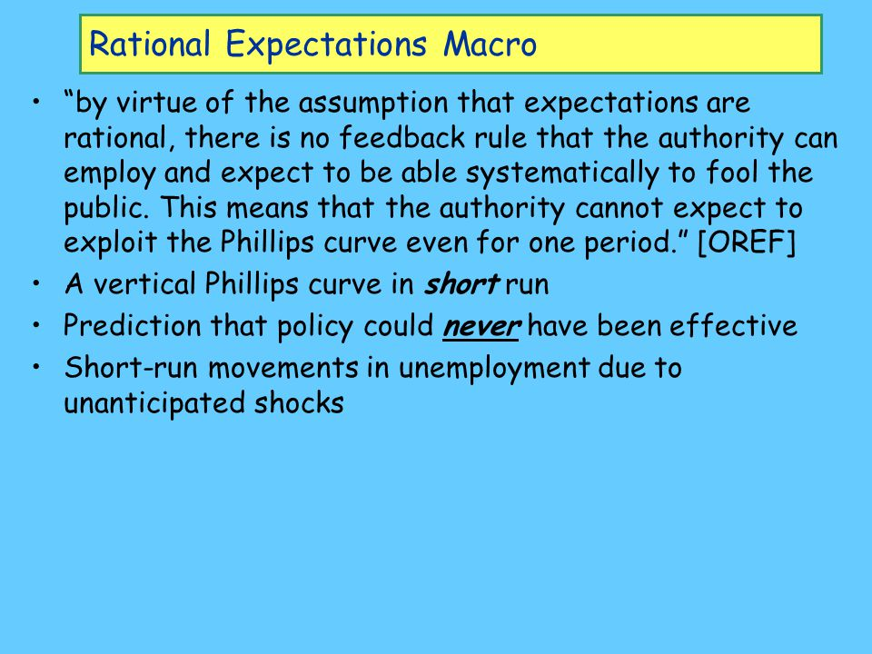 Rational Expectations Macro