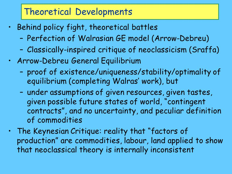 Theoretical Developments