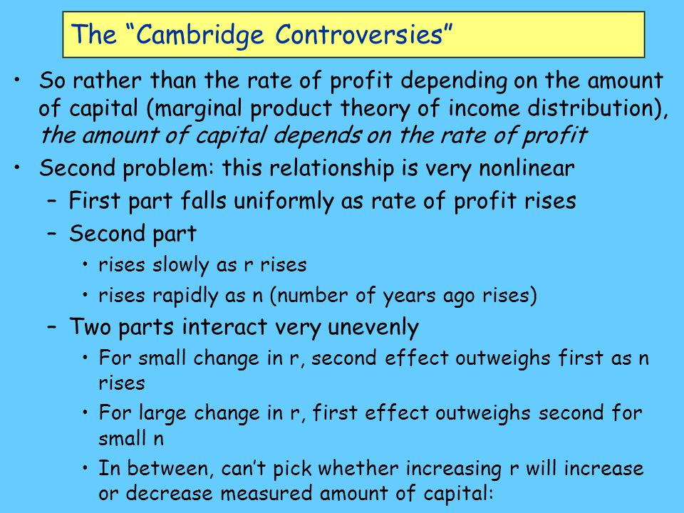 The Cambridge Controversies