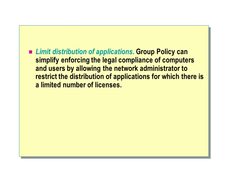 Limit distribution of applications