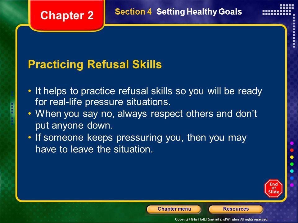 Practicing Refusal Skills