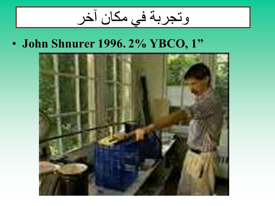 وتجربة في مكان آخر John Shnurer 1996. 2% YBCO, 1