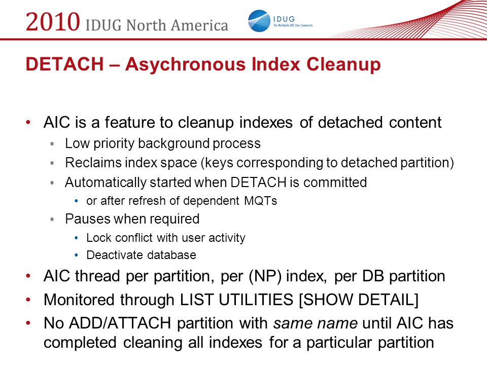 DETACH – Asychronous Index Cleanup