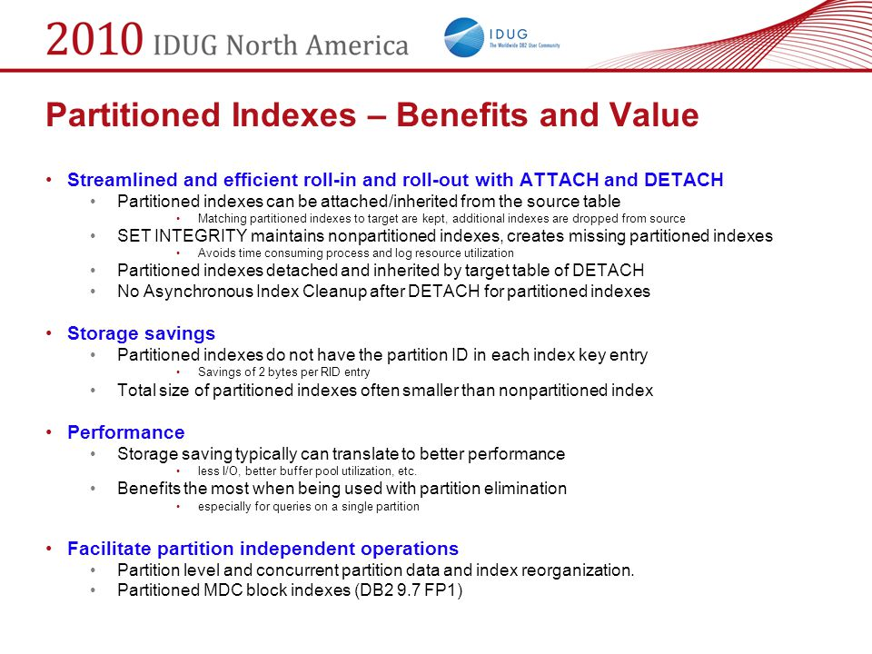 Partitioned Indexes – Benefits and Value
