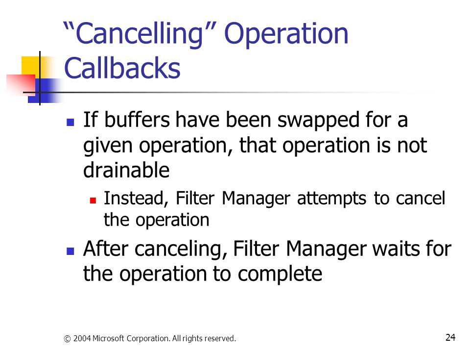 Cancelling Operation Callbacks
