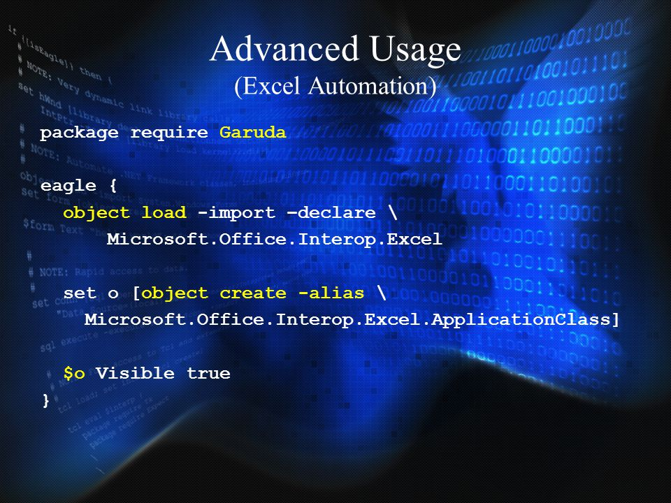 Advanced Usage (Excel Automation)