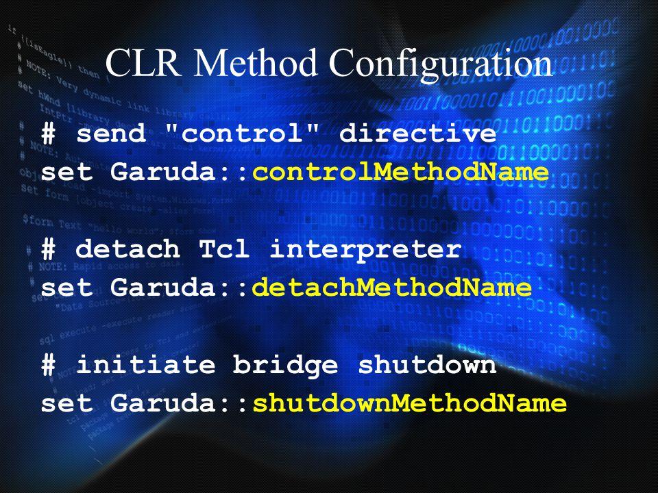CLR Method Configuration