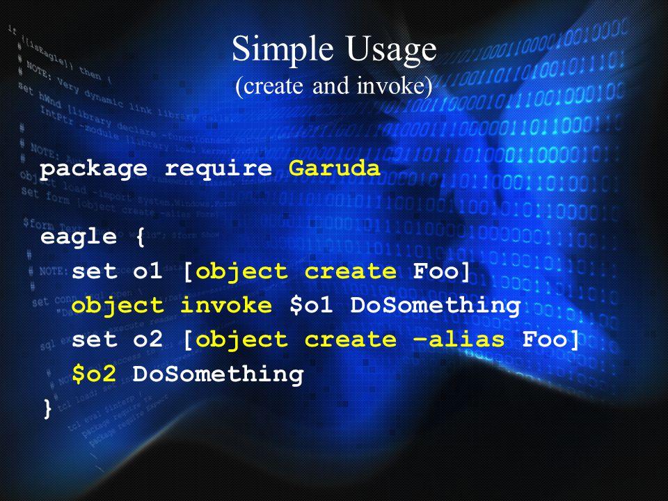 Simple Usage (create and invoke)