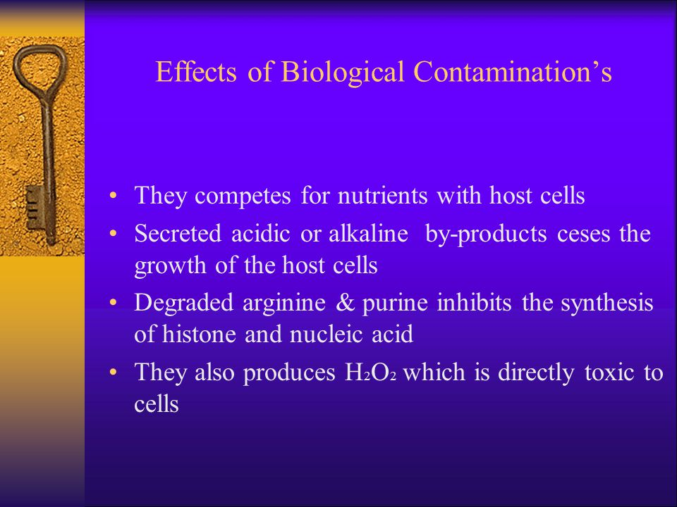 Effects of Biological Contamination's