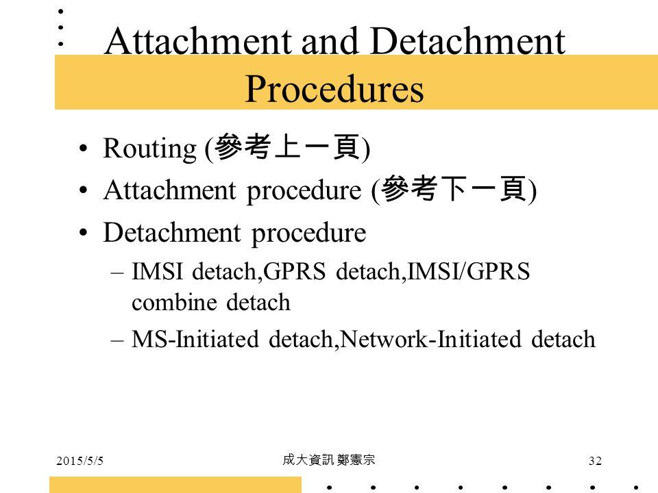 Attachment and Detachment Procedures