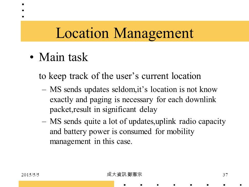 Location Management Main task