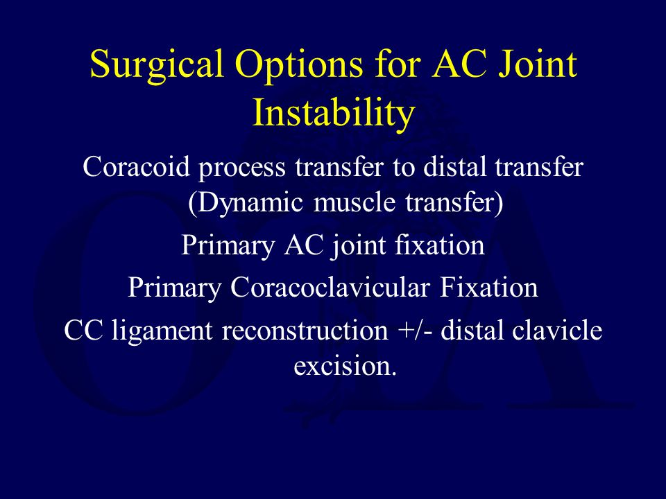 Surgical Options for AC Joint Instability
