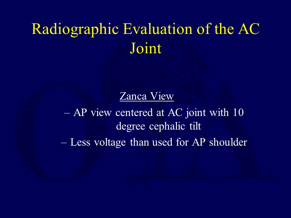 Radiographic Evaluation of the AC Joint
