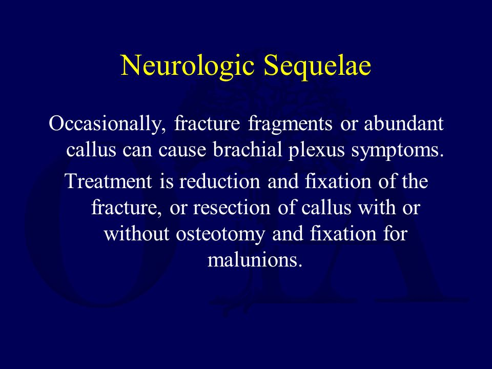 Neurologic Sequelae
