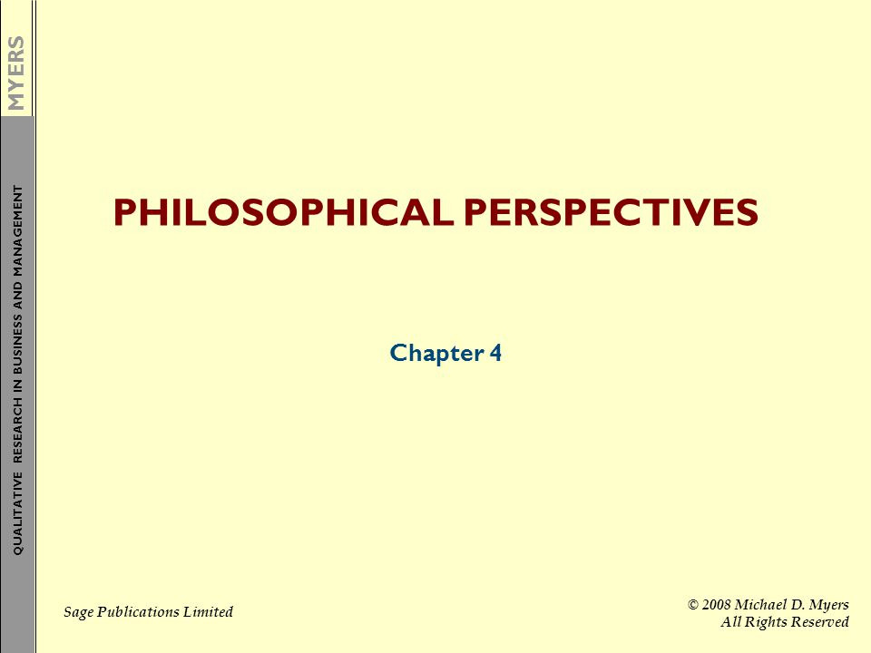 PHILOSOPHICAL PERSPECTIVES