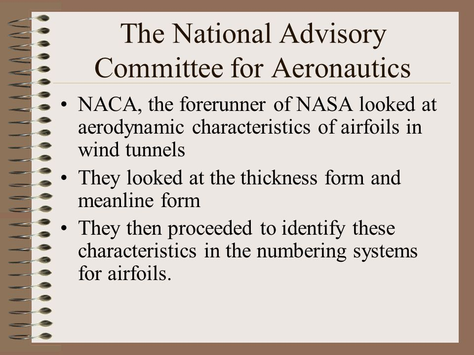The National Advisory Committee for Aeronautics
