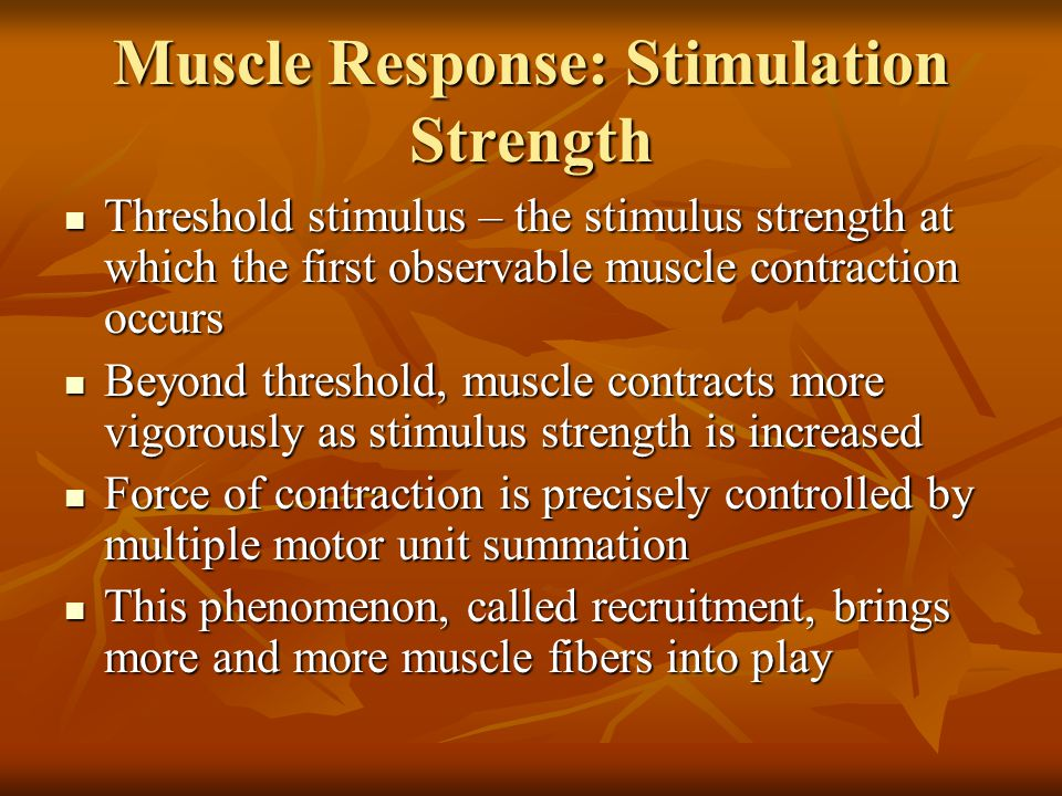 Muscle Response: Stimulation Strength