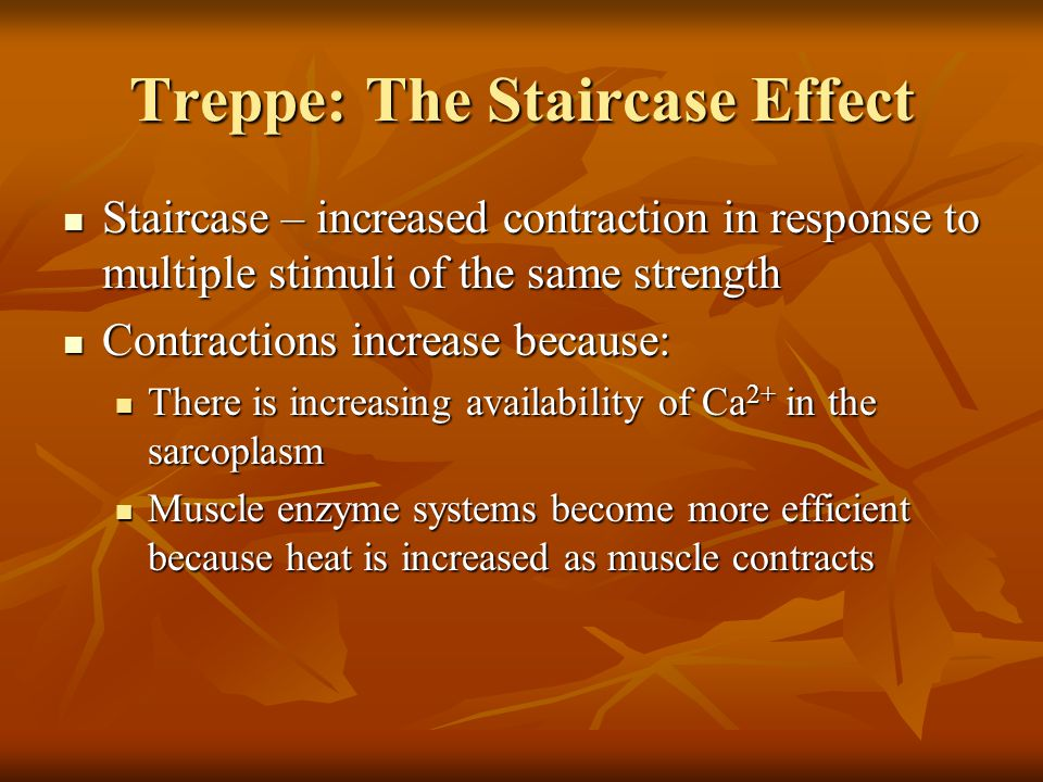 Treppe: The Staircase Effect
