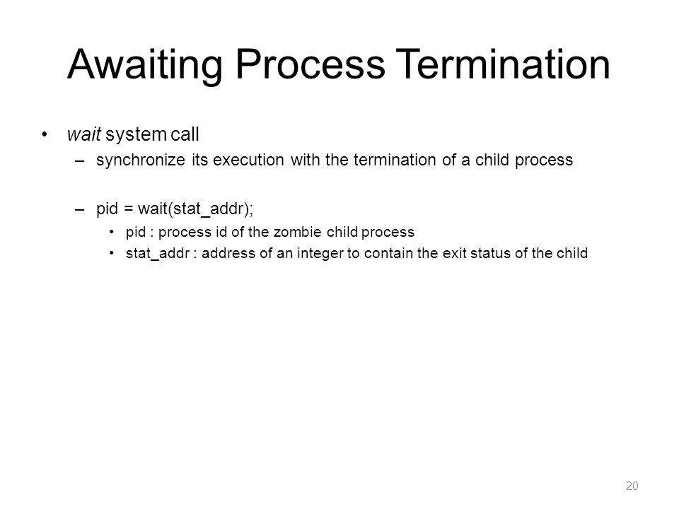 Awaiting Process Termination
