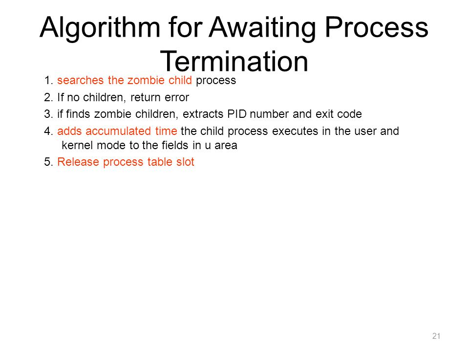 Algorithm for Awaiting Process Termination