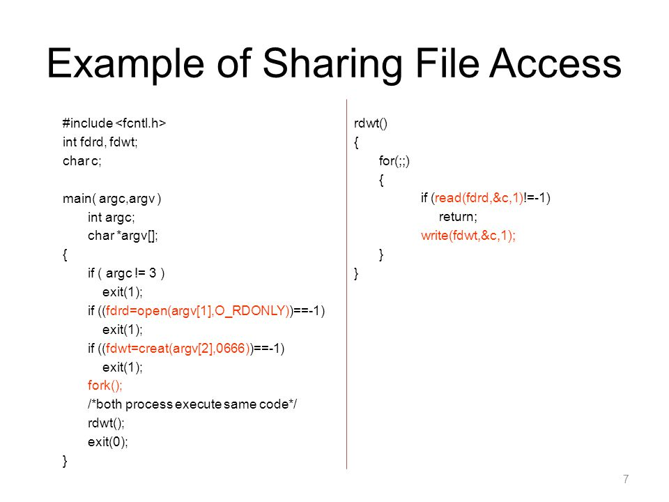 Example of Sharing File Access