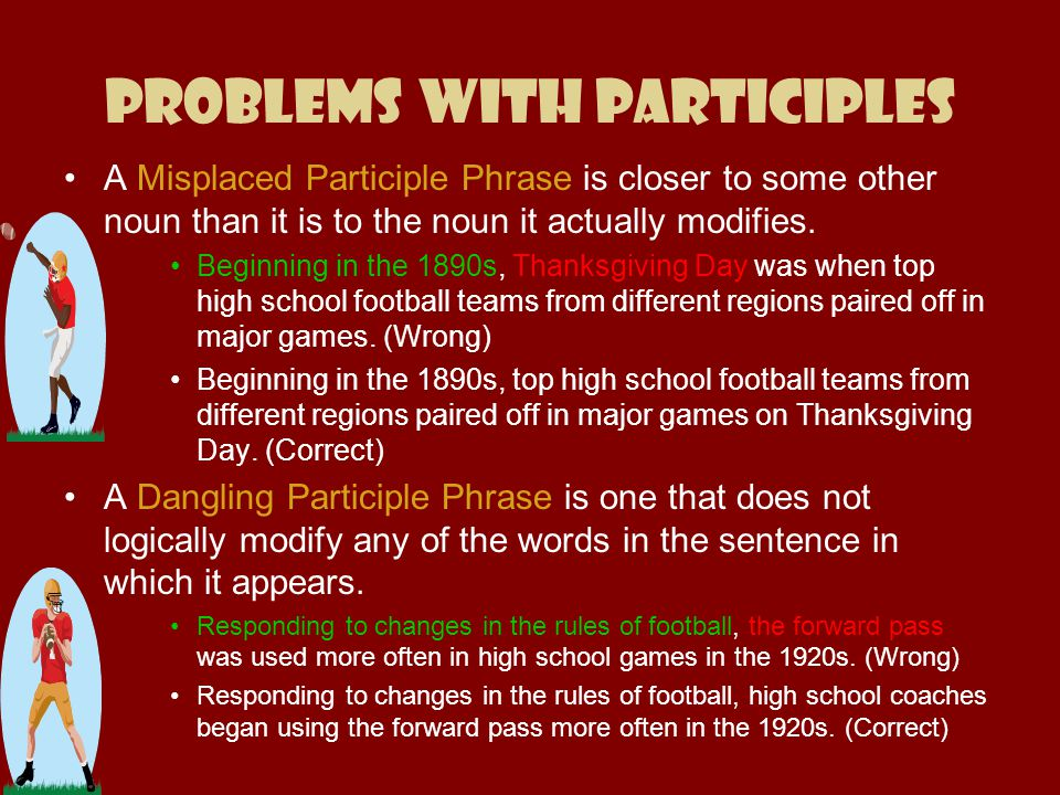 Problems with Participles