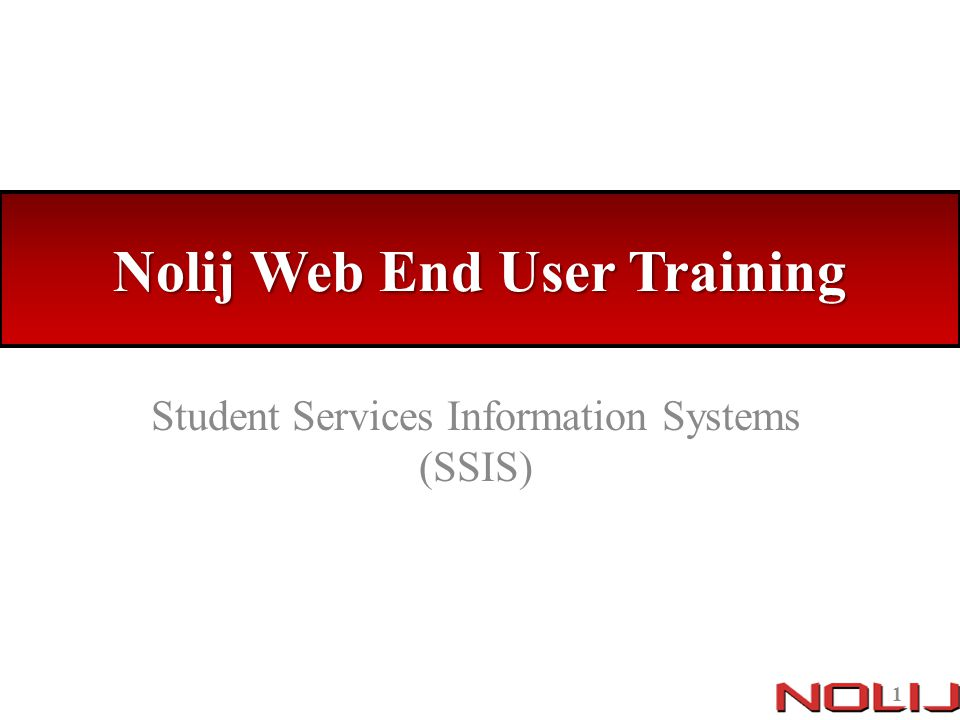 Nolij Web End User Training