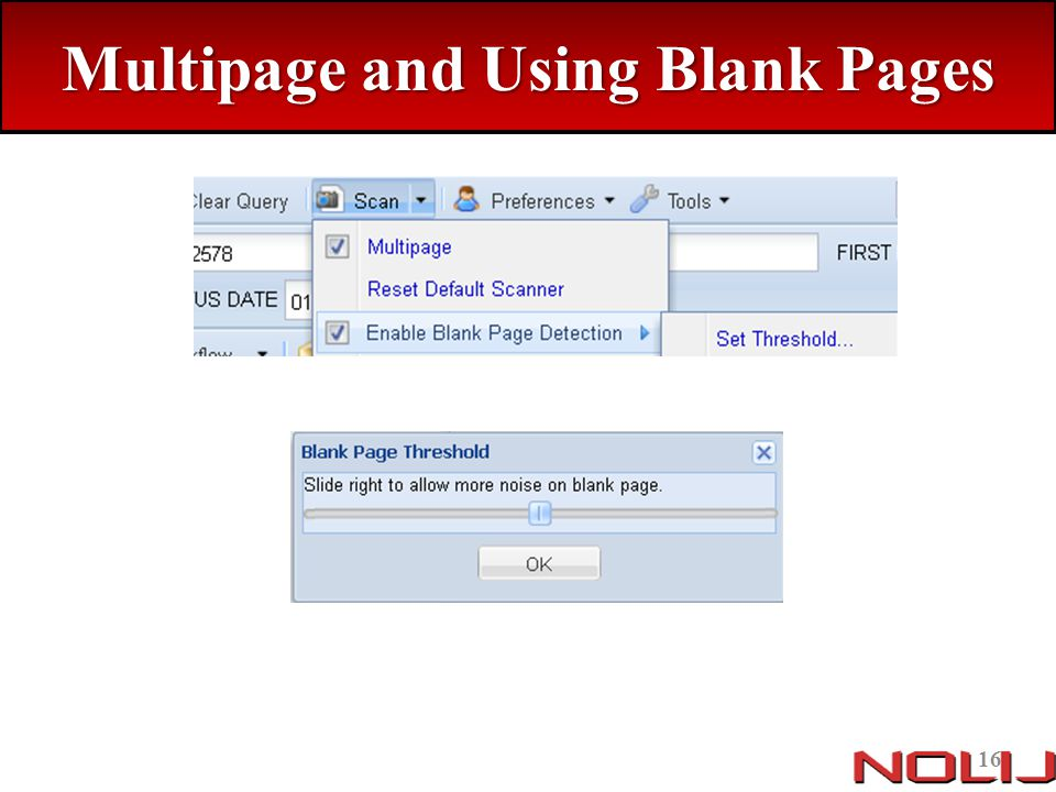 Multipage and Using Blank Pages