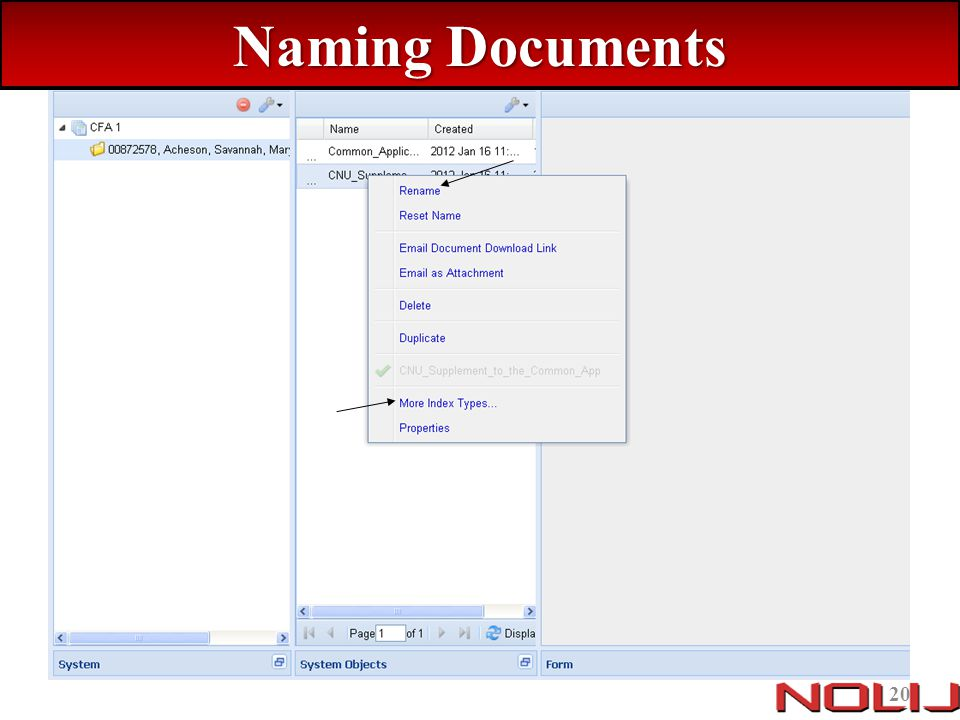 Naming Documents