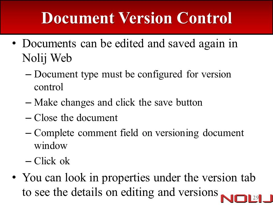 Document Version Control
