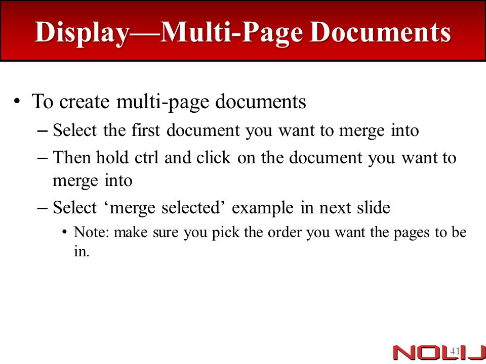 Display—Multi-Page Documents