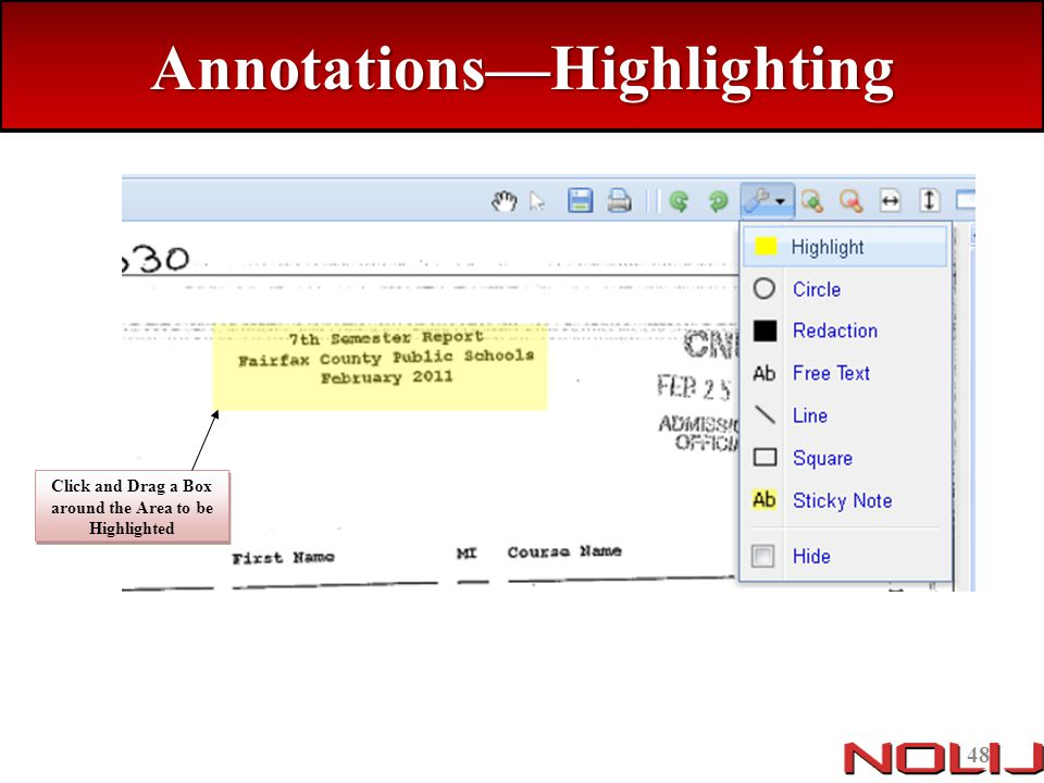 Annotations—Highlighting