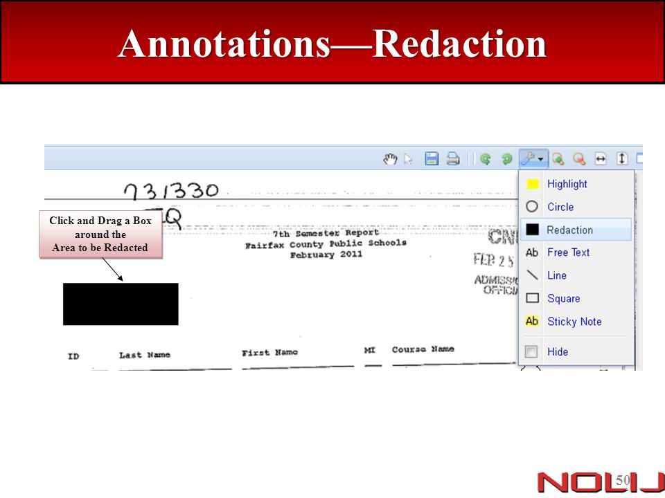 Annotations—Redaction