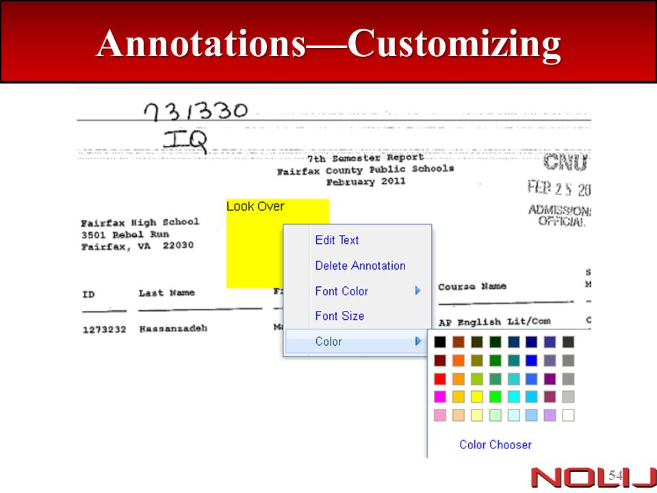 Annotations—Customizing