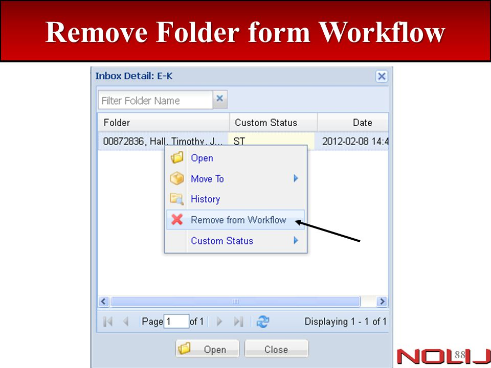 Remove Folder form Workflow