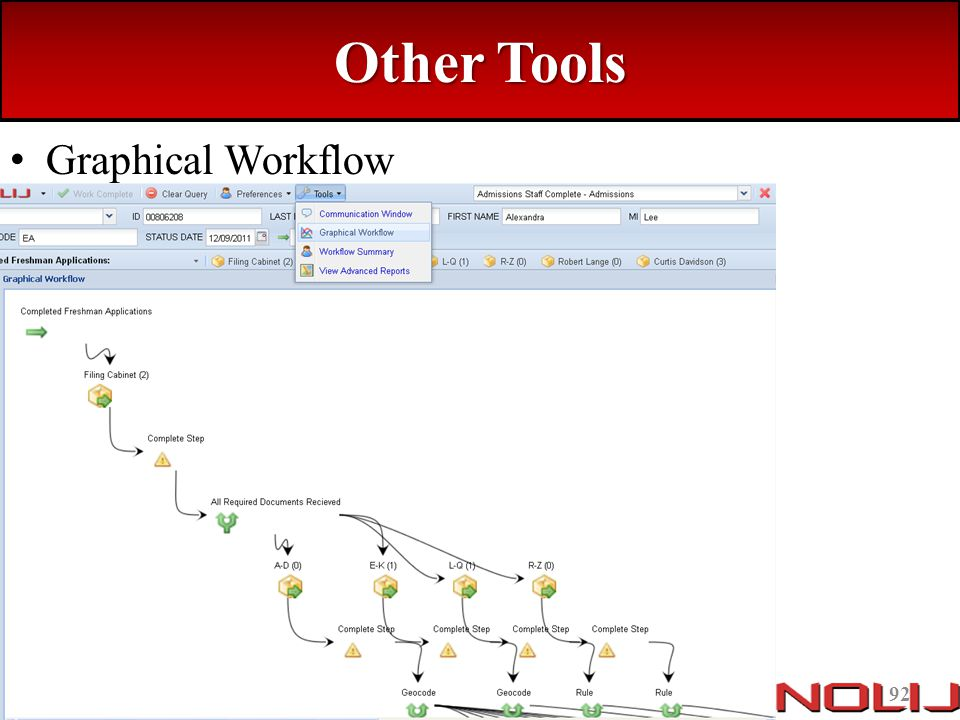 Other Tools Graphical Workflow