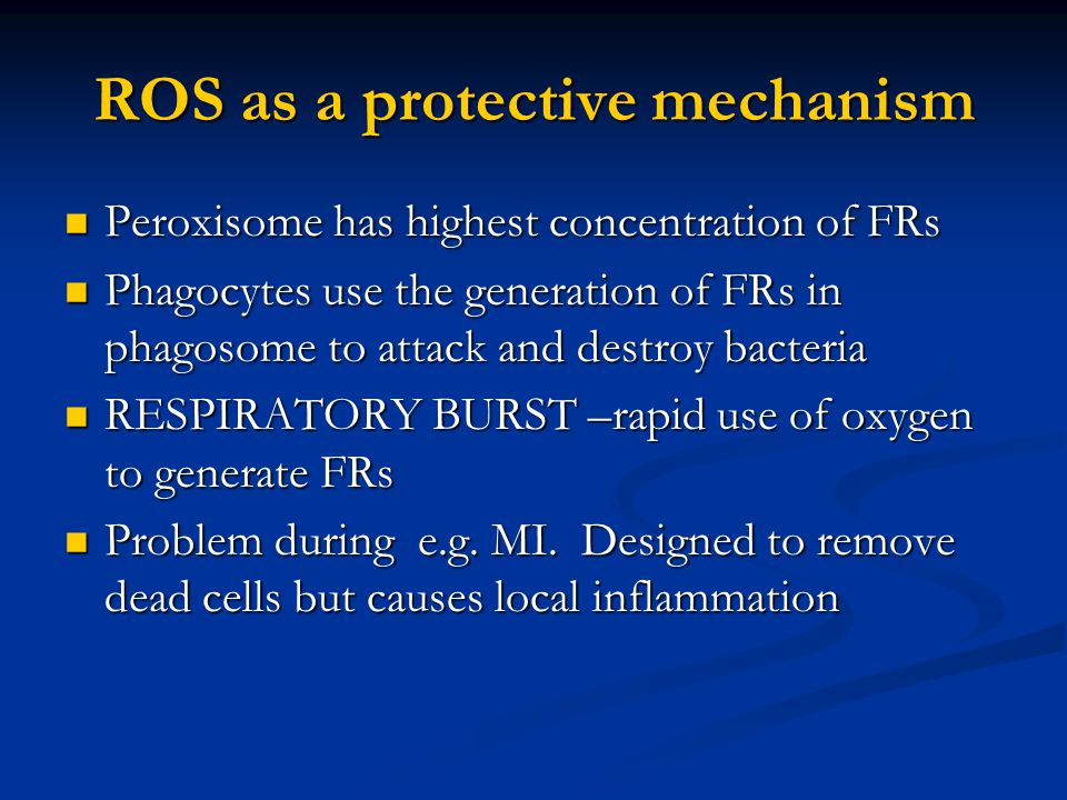 ROS as a protective mechanism