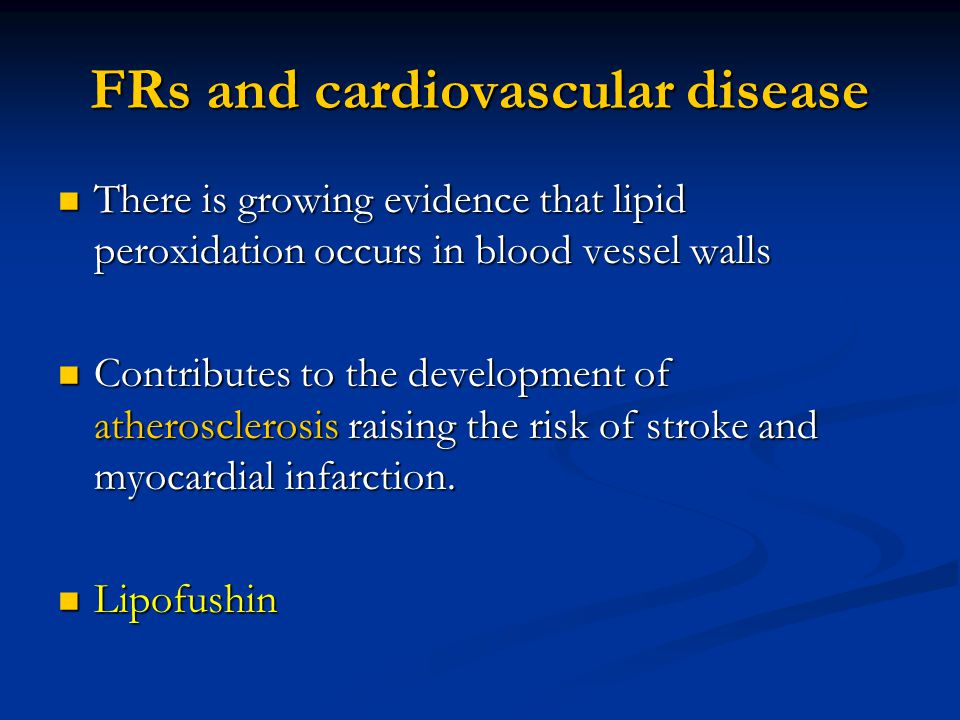 FRs and cardiovascular disease