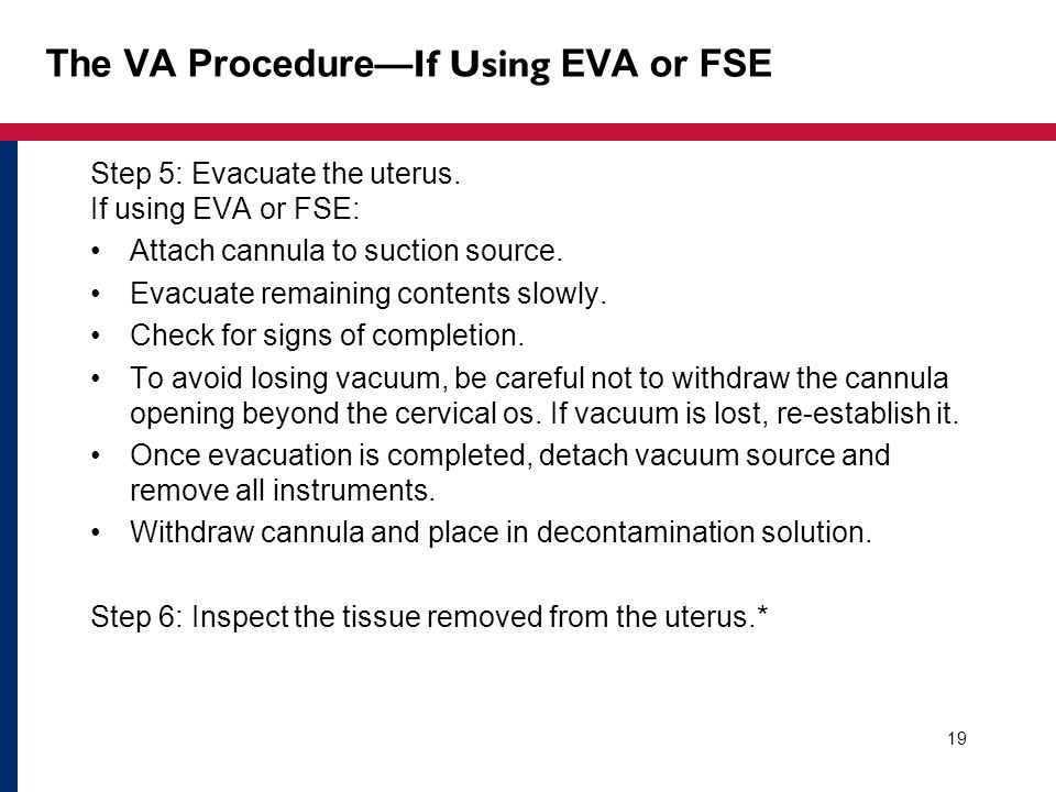 The VA Procedure—If Using EVA or FSE
